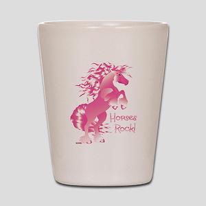Horses Rock Pink Shot Glass