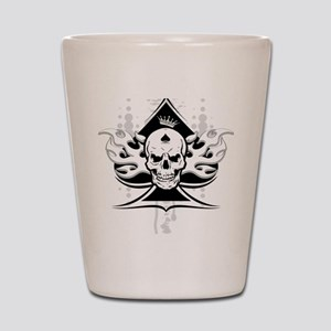 ace of spades skull Shot Glass