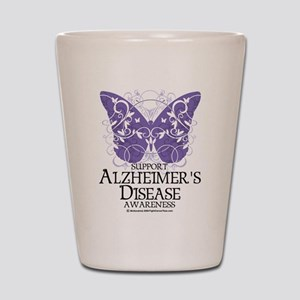 Alzhimers Butterfly 4 Shot Glass
