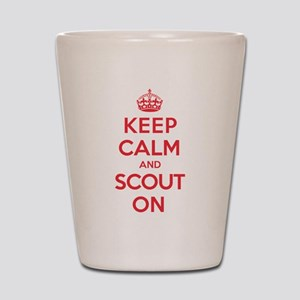 Keep Calm Scout Shot Glass