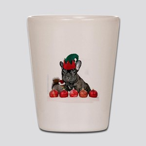 Christmas French Bulldog Shot Glass