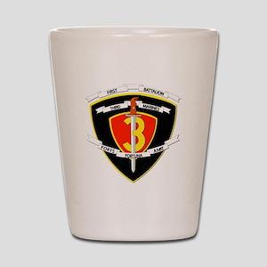 SSI - 1st Battalion - 3rd Marines Shot Glass