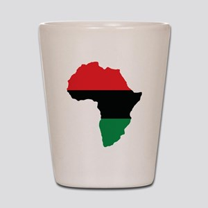 Red, Black and Green Africa Flag Shot Glass