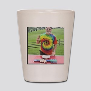 Peace at Woodstock Monument Shot Glass