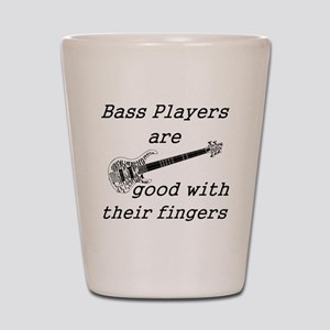 good with their fingers Shot Glass