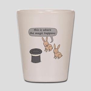 Rabbits and Magic Shot Glass