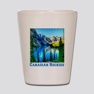 Canadian Rockies Shot Glass