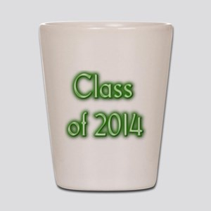 Class of 2014 - green with shadow Shot Glass