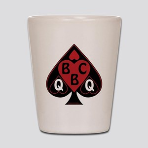 Queen of spades loves BBC-red Shot Glass