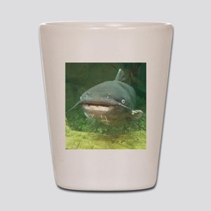 Curious Catfish Shot Glass