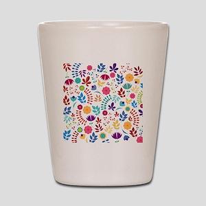 Cute Whimsical Floral Boho Chic Shot Glass