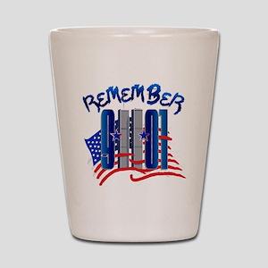 Remember 9/11 - 9-11-01 Twin Towers Mem Shot Glass