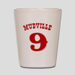 Mudville9 (red) Shot Glass