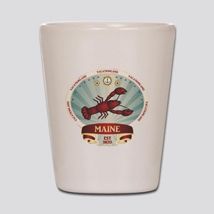 Maine Lobster Crest Shot Glass