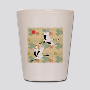 Soaring Cranes Shot Glass