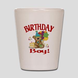 birthday boy bear Shot Glass