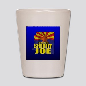 sheriff_joe_button_zz Shot Glass