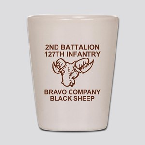 ARNG-127th-Infantry-B-Co-Black-Sheep-Sh Shot Glass
