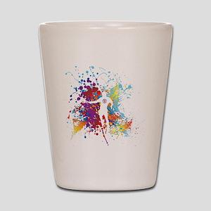 Color Splash Tennis Tshirt Shot Glass