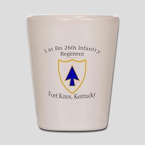 1st Bn 26th Infantry Shot Glass