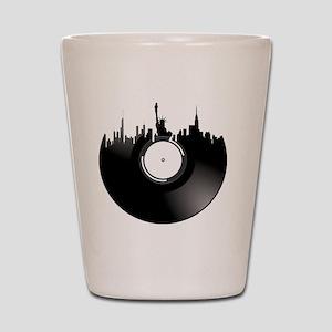 New York City Vinyl Record Shot Glass