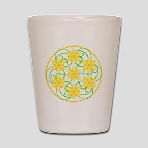 Daffodils Mandala Shot Glass
