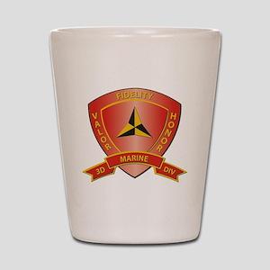 USMC - HQ Bn - 3rd Marine Division Shot Glass