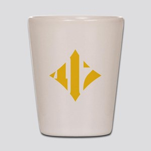 412 White/Gold-W Shot Glass