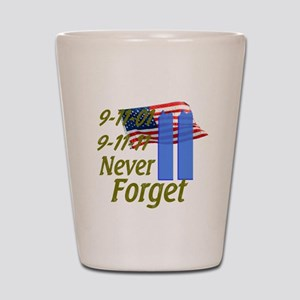 9-11 / Flag / Never Forget Shot Glass