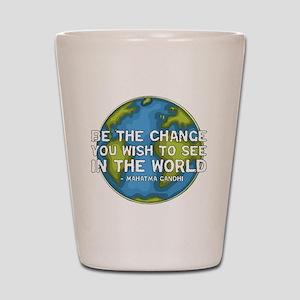 gandhi_earth_bethechange_dark Shot Glass