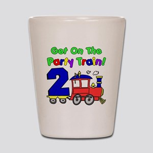 Get On The Party Train 2 Year Old Shot Glass