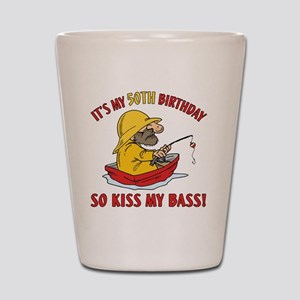 kissmybass50 Shot Glass