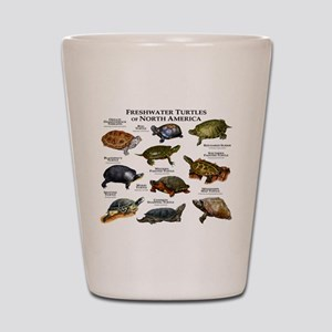 Freshwater Turtle of North America Shot Glass
