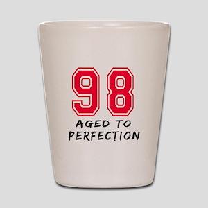 98 Year birthday designs Shot Glass