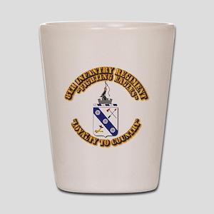 COA - 8th Infantry Regiment Shot Glass