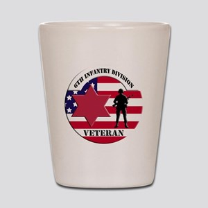 6th Infantry Division Shot Glass