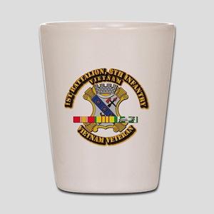 1st Battalion, 6th Infantry Shot Glass