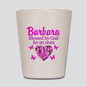 BLESSED 90TH Shot Glass