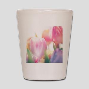 Beautiful Tulips Shot Glass
