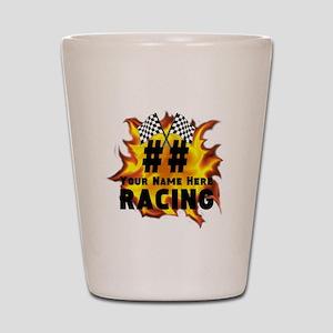 Flaming Racing Shot Glass
