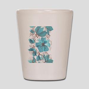 Pretty Floral Shot Glass