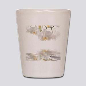 Orchids Reflection Shot Glass