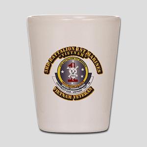 SSI - 3rd Battalion - 1st Marines USMC VN Shot Gla