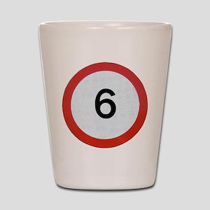 Speed sign 6 Shot Glass