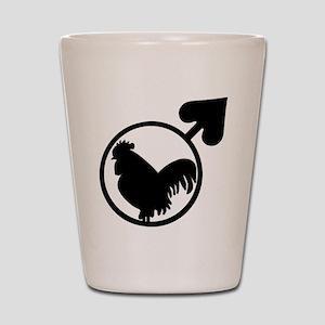 Black Cock Shot Glass