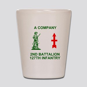 ARNG-127th-Infantry-A-Co-Shirt-4-Green. Shot Glass