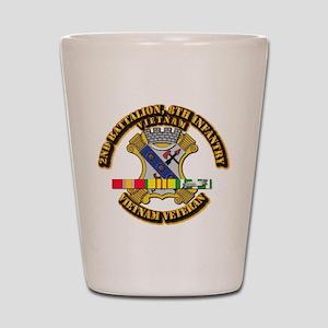 2nd Battalion, 8th Infantry Shot Glass