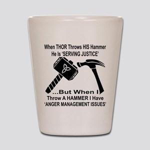 Anger Management Issues Shot Glass