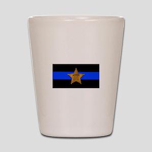Sheriff Thin Blue Line Shot Glass