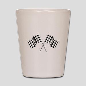 racing car flags Shot Glass